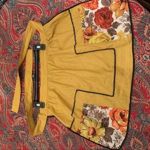 Vintage hand sewn reversible apron